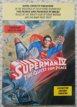 Superman 4, Royal Charity Premiere Program, Christopher Reeve, '87
